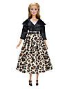 Yiwu pto_03l9for 29cm Barbie kläder, docka high-end lyxig vindjacka med bältdressjacka med lång kjol lämplig för 29cm dockor_ dockadockadressjacka med lång kjol