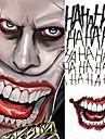 5pcs / lot halloween cosplay den joker tillfälliga tatuering klistermärken kroppskunst tatueringar för ansikte arm