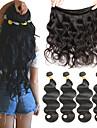 4 paket Brasilianskt hår Kroppsvågor Löst vågigt Äkta hår Human Hår vävar 8-26 tum Hårförlängning av äkta hår Människohår förlängningar