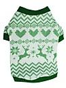 Hund T-shirt Väst Hundkläder Grön Kostym Dalmatiner Corgi Beagle Cotton Geometrisk Jul Ledigt / vardag Minimalistisk Stil XS S M L