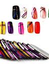 30st / väska 1mm blandade färger radium spik linje sticker rulle stripande tejp linje nagel konst dekoration klistermärke lim