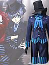 Inspirerad av Svart Butler Ciel Phantomhive Animé Cosplay-kostymer Japanska cosplay Suits Modernt Kravatt / Kappa / Blus Till Herr / Dam / Topp / Handskar