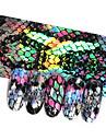 16st slang design nagelfolier holografisk stjärnhimmel folieöverföring klistermärke 20 * 4cm manikyr nagellik dekaler