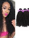 3 paket Brasilianskt hår Kinky Curly Obehandlad hår Human Hår vävar 8-28 tum Hårförlängning av äkta hår Människohår förlängningar / 10A / Sexigt Lockigt