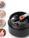 15 ml nail art limgel för rhinestones dekorationer starka klistertips limfolie smycken inga torka gel överdrag
