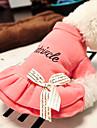 Katt Hund T-shirt Hundkläder Rosa Kostym Cotton Bokstav & Nummer Ledigt / vardag XS S M L