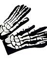 Yiwu pby_01b8 Halloween Ghost Festival Scary Skull Ghost Foam Tyg Handskar Skum Ghost Handskar