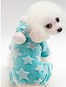 Hund Katt Huvtröjor Jumpsuits Hundkläder Håller värmen Grön Blå Rosa Kostym 100% Korall Fleece Tryck Ledig / Sportig S M L XL XXL