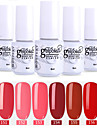 nagellack 6 st färg 151-156 xyp soak-off UV / led gel nagellack färgfärg nagellack uppsättningar