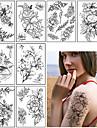 3 pcs tillfälliga tatueringar Vattenavvisande / Bästa kvalitet skuldra / Bröst Tatueringsklistermärken