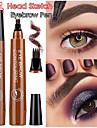 fyra huvuden flytande ögonbryn penna svart brun vattentät bestående färg blekna ögonbryn smink kosmetika