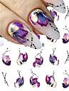 1 pcs Vattenöverföringsklistermärke Blomma nagel konst manikyr Pedikyr Universell Stilig Dagligen