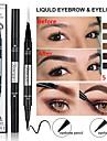 dubbel ögonbryn penna eyeliner vattentät två-i-ett multifunktionell långvarig ögonmakeup.