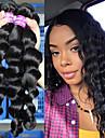 """3 paket Brasilianskt hår Löst vågigt Äkta hår En Pack Lösning 10""""-26"""" Naturlig Hårförlängning av äkta hår Människohår förlängningar"""