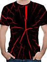 Men\'s T shirt Shirt Abstract Print Short Sleeve Street Tops Basic Punk & Gothic Round Neck Black