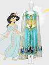 Aladdin Princess Jasmine Cosplay Kostymer / Dräkter Film-cosplay Mesh Mini-me Blå Topp Byxor Sjal Barnens Dag Maskerad Tyll / Ärmlös