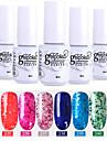 nagellack 6 st färg 241-246 xyp soak-off UV / led gel nagellack färgfärg nagellack uppsättningar
