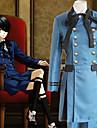 Inspirerad av Svart Butler Ciel Phantomhive Animé Cosplay-kostymer Japanska cosplay Suits Enfärgad Långärmad Kravatt / Skjorta / Topp Till Herr