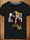 Inspirerad av One Piece Monkey D. Luffy Animé Cosplay-kostymer Japanska Cosplay T-shirt Tryck Kortärmad Topp Till Herr / Dam
