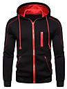 Men\'s Hoodie Zip Up Hoodie Solid Colored Color Block Hooded Daily Basic Casual Hoodies Sweatshirts  Light gray Black Red