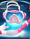 Snorklingspaket Dykning Paket - Dykmaske Snorkel - Anti-Dimma Universell Torrdräkt – överdel Simmning Dykning Silikon Gummi Härdat glas PC  För Barn