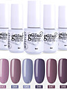 6 st färg 43-48 xyp soak-off UV / led gel nagellack färgfärg nagellack uppsättningar