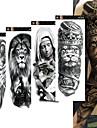 4st / lot full arm tillfälliga tatueringar klistermärken för män kvinnor svart dödskalle skalle super stora stora vattentäta falska tatuering ärmar