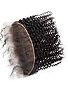 Clytie Brasilianskt hår 4x13 Stängning Lockigt Fria delen Middle Part Schweizisk spetsperuk Äkta hår Dam Dam Datum / Svart
