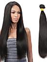 1 Bundle Indiskt hår Rak Obehandlad hår Human Hår vävar 8-26 tum Svart Hårförlängning av äkta hår Människohår förlängningar / 10A