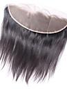 Clytie Brasilianskt hår 4x13 Stängning Rak Fria delen Middle Part Schweizisk spetsperuk Äkta hår Dam Dam Datum / Svart