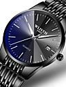 Men\'s Dress Watch Quartz Formal Style Stylish Luxury Calendar / date / day Analog Black / Blue Black / Silver Black / One Year / Stainless Steel / Noctilucent