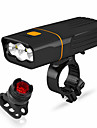 LED Bike Light Front Bike Light LED Bicycle Cycling Waterproof Rotatable Portable Quick Release Rechargeable Li-Ion Battery 2400 lm Battery operated Rechargeable Power 18650 lithium battery White