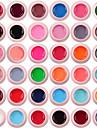 lilyangel 36 färger set gel färg nagelkonst set färgglad målning gel hög kvalitet nagelkonst uv gelpolver
