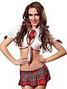 Dam Student / Skoluniform Vuxna Sexiga Uniformer Cosplay Kostymer / Dräkter Kravatt Topp Shorts / Spandex / Bomullstyg