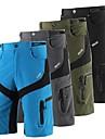 Arsuxeo Homens Bermudas para MTB Moto Shorts Shorts largos Bermudas para MTB Prova-de-Agua Respiravel Pavio Humido Esportes Cor Solida Poliester Elastano Preto / Cinzento / Verde Tropa Ciclismo de
