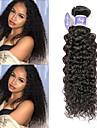 3 paket Peruanskt hår Kinky Curly Remy-hår 100% Remy Hair Weave Bundles Human Hår vävar Förlängare bunt hår 8-28 tum Naurlig färg Hårförlängning av äkta hår Party Häftig Bröllop Människohår