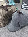 Sherlock Holmes Hattar Maskerad Dam Film-cosplay Cosplay Halloween Beige / Grå Hatt Halloween Karnival Maskerad Duk