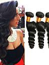 3 paket Malaysiskt hår Löst vågigt 100% Remy Hair Weave Bundles Human Hår vävar Förlängare bunt hår 8-28 tum Naurlig färg Hårförlängning av äkta hår Luktfri Moderiktig design Dam Människohår