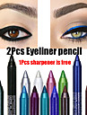 2st färgglada pigment långvarig vattentät eyeliner penna mode ögonmakeup kosmetika