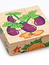Träpussel Puzzle Cube Utbildningsleksak Seriefigurer Lindrar ADD, ADHD, ångest, autism Dekompressionsleksaker Föräldra-Barninteraktion Trä 3 pcs Barns Förskola Alla Leksaker Present