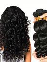3 paket Peruanskt hår Löst vågigt Obehandlad hår Obehandlat Mänsligt hår Human Hår vävar Förlängare bunt hår 8-28 tum Naturlig Hårförlängning av äkta hår Luktfri Moderiktig design Dam Människohår
