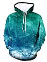 Men\'s Plus Size Hoodie Color Block / Rainbow Hooded Casual / Active Green US32 / UK32 / EU40 US34 / UK34 / EU42 US36 / UK36 / EU44 US38 / UK38 / EU46 US40 / UK40 / EU48 US42 / UK42 / EU50