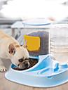 Hund Katt Fågelmat / Vatten Tillbehör / Skålar & Vattenflaskor / Matbehållare 2.5 L Resin Vattentät Tvättbar Hållbar Enfärgad Grå Blå Rosa Skålar och matning