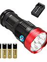 10 LED-Ficklampor Taktisk Vattentät 10000 lm LED LED 10 utsläpps 3 Belysning läge med batterier och laddare Taktisk Vattentät Uppladdningsbar Stöttålig Strike Bezel Nödsituation Camping / Vandring