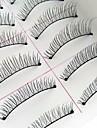 Ögonfrans 10 pcs Förtjusande Andningsfunktion Ultra Lätt (UL) vattenbeständigt Bekväm Giftfri Fiber Djurull Ögonfrans Dagliga kläder Hela ögonfransar Naturligt långa - Smink Vardagsmakeup
