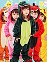 Barn Vuxna Kigurumi-pyjamas Tiger Onesie-pyjamas Flanell Grön / Orange / Gul Cosplay För Pojkar och flickor Pyjamas med djur Tecknad serie Festival / högtid Kostymer