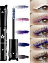 färg mascara vattentät snabbtorkande curlingförlängning ögonfransblått pulver vit lila svart kaffe färg bläckmascara