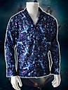 Stranger Things Film- och TV-kostymer Blus / Skjorta Herr Film-cosplay Fritid Halloween Blå Blus Halloween Konstgjord silke