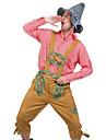 Halloween Karnival Oktoberfest Trachtenkleider Herr Blus Byxor Hatt Bavarian Kostym Jordgul