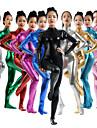 Zentai Dräkter Kattdräkt Huddräkt Ninja Vuxna Spandex Latex Cosplay-kostymer Kön Dam Brun / Purpur / Silver Enfärgad Halloween / Hög Elasisitet